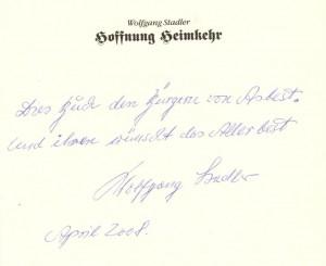 Автограф Штадлера