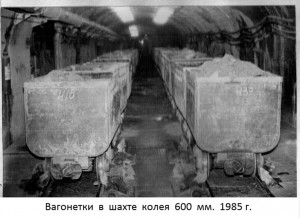 Вагонетка шахта